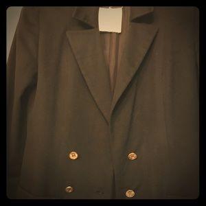 Chanel Black Cashmere Blazer CC Logo Buttons